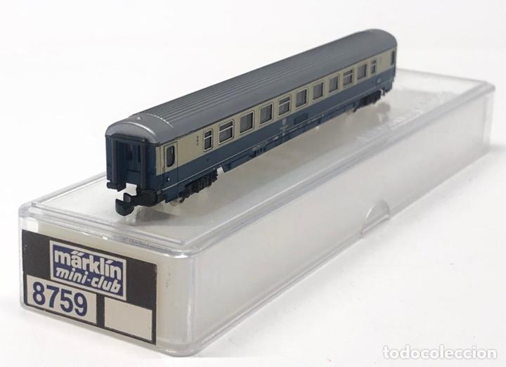 Trenes Escala: MARKLIN MINI CLUB VAGÓN PASAJEROS COCHE 2ª DB 8759 ESCLA Z. NUEVO - Foto 2 - 243659475