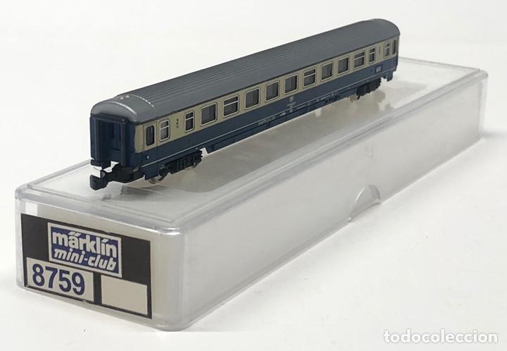 Trenes Escala: MARKLIN MINI CLUB VAGÓN PASAJEROS COCHE 2ª DB 8759 ESCLA Z. NUEVO - Foto 4 - 243659475