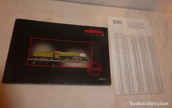 Trenes Escala: CATÁLOGO MARKLIN Z, 1986-1987 - Foto 5 - 228823990