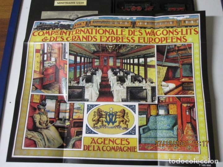 Trenes Escala: Minitrains 1/220, el orient express. Escala Z. Planeta Deagostini Ver fotos, es parte de su descrip - Foto 4 - 232139040