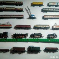 Trenes Escala: LOTE LOCOMOTORAS MARKLLIN ESCALA Z MÁS DE 20 PIEZAS, VIAS ETC. Lote 258222610