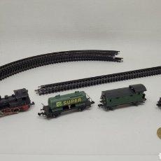 Trenes Escala: LOTE LOCOMOTORA ARNOLD Y VAGONES IBERTREN. MADE IN SPAIN. WEST GERMANY. SERIE Z.. Lote 262493220