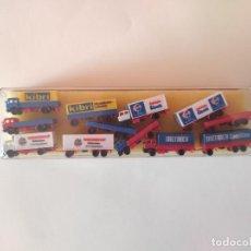 Trenes Escala: KIBRI ESCALA Z. SET 6 CAMIONES Y 6 REMOLQUES REF.6995. Lote 278941933