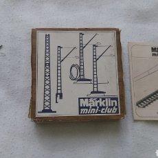 Trenes Escala: MARKLIN 8913. 10 POSTES CATENARIAS PARA PUENTES. Lote 284591128