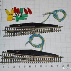 Trenes Escala: ESCALA Z / MARKLIN - 2 DESVÍOS ELÉCTRICOS IZQUIERDOS 8561 / 8564 Y 12 JACK/CONECTORES - ¡MIRA FOTOS!. Lote 295529528