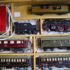 Trenes Escala: TREN PAYA ESCALA S, CON SU MALETA ORIGINAL. 5 VAGONES, CARBONERA, MÁQUINA Y TRANSFORMADOR. Lote 12110544