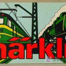 Trenes Escala: CROMO ADHESIVO - PEGATINA PROMOCION TREN TRENES MARKLIN MÄRKLIN. Lote 12932975