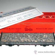 Trenes Escala: RARO VAGÓN RENFE CARGA BORDE BAJO, GARVI H0, BARCELONA, ORIGINAL AÑOS 60.. Lote 50857443