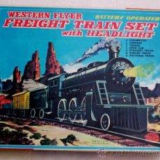 Trenes Escala: TREN *HAJI*, DE HOJALATA Y PLASTICO, A PILAS - (JAPON, DEL AÑO 1970), NUEVO !!. Lote 20396902