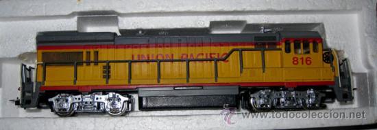 Trenes Escala: ANTIGUA LOCOMOTORA BACHMANN EN CAJA ORIGINAL - 64001 - HO 1/86 3 CARRILES - UNION PACIFIC ESTADOS UN - Foto 2 - 110480044