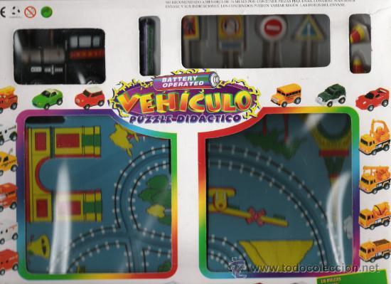 CIRCUITO DE TREN COMPLETO DE PUZZLE DIDACTICO CON BATERIA INCLUIDA ADMITE DISTINTOS CIRCUITOS (Juguetes - Trenes - Varios)