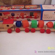 Trenes Escala: TREN DE CARGA, ES DE MADERA, - MARCA: JOC-DI.- NO USADO-MIDE 52 CM.. Lote 16103045