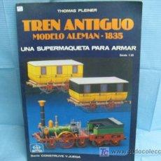 Trenes Escala: MAQUETA PARA MONTAR (THOMAS PLEINER) TREN ANTIGUO MODELO ALEMAN 1835. Lote 24566503