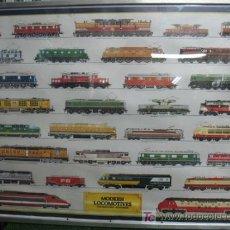 Trenes Escala: CUADRO DE TRENES, MUY BONITO. Lote 21356332