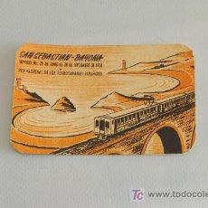 Trenes Escala: RENFE. HORARIO DE TRENES, SAN SEBASTIÁN -BAYONA. 1958.. Lote 24672571