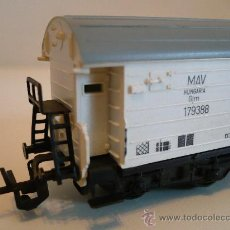 Trenes Escala: TRENES A ESCALA (ANTIGUEDAD) - VAGON DE 4 EJES TRANSPORTE DE MERCANCIAS. ESCALA TT (120MM). Lote 21339127