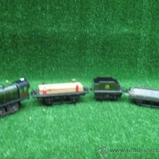 Trenes Escala: HORNBY -TREN COMPLETO A CUERDA (HOJALATA). Lote 24629942