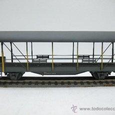 Trenes Escala: METROPOLITAN H0 - VAGON PLATAFORMA DE TRANSPORTE DE VEHICULOS - DE LA BLS - ESCALA H0. Lote 27826033