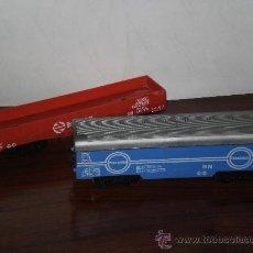 Trenes Escala: GRAN NOVEDAD EN TC , LOTE DE 2 VAGONES DE RENFE GRANDES DIMENSIONES ( VER MEDIDAS ) , AÑOS 70 APROX . Lote 29558922