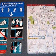 Trenes Escala: LOTE ADHESIVOS / PEGATINAS METRO DE MADRID. Lote 181575828