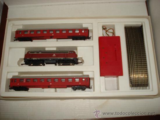 Trenes Escala: Antigua Caja Set con Tren en Escala *H0* de TEMPO . Año 1970s - Foto 4 - 32247300