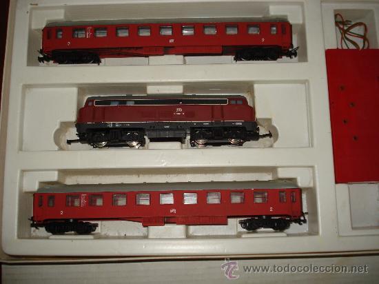 Trenes Escala: Antigua Caja Set con Tren en Escala *H0* de TEMPO . Año 1970s - Foto 5 - 32247300
