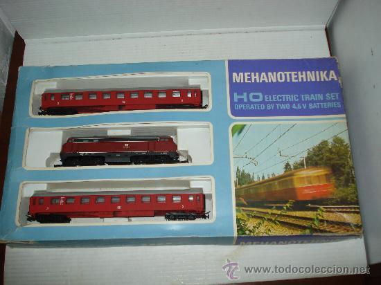 Trenes Escala: Antigua Caja Set con Tren en Escala *H0* de TEMPO . Año 1970s - Foto 2 - 32247300