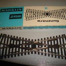 Trenes Escala: VIAS DE TRENES. RAIL. CRUCE. MARKLIN. 2159.. Lote 32719573