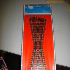 Trenes Escala: TRENES. VIAS Y RAILES. CRUCE. LIMA TRAINS. 18 GRADOS. 3039.. Lote 32727731