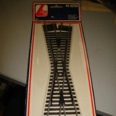 Trenes Escala: TRENES. VIAS Y RAILES. CRUCE. MODELO LIMA. 18 GRADOS. 40 3039.. Lote 32727751