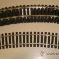 Trenes Escala: CONJUNTO DE 6 VIAS DE TREN CURVA. 2 CM ANCHO X 19CM LARGO.. Lote 33152192