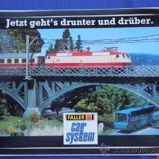 Trenes Escala: PEGATINA FALLER CAR SYSTTEM. Lote 33531418