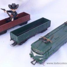Trenes Escala: LOCOMOTORA Y VAGONES TREN JOUEF. Lote 33743741