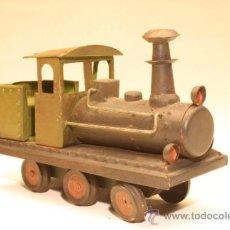 Trenes Escala: MAQUINA TREN HOJALATA. Lote 33945086