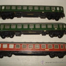 Trenes Escala: ANTIGUOS 3 COCHES DE VIAJEROS TOTALMENTE METALICOS ESC. *H0* DE TRIX MODELL MADE IN GERMANY. Lote 35994068