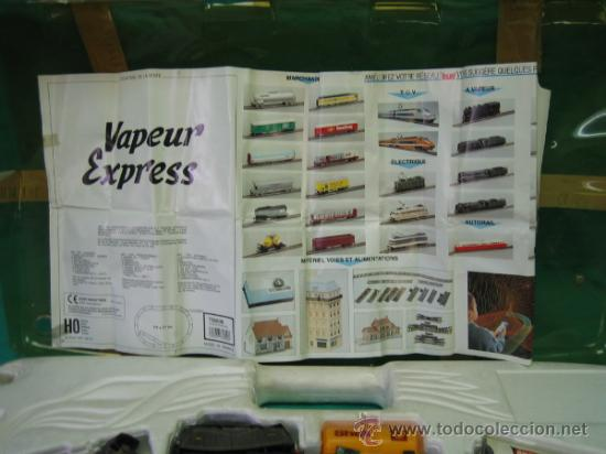 Trenes Escala: Tren Vapor Express 735800 de Jovef made in France. Escala HO. Esta deformado por la temperatura - Foto 6 - 36310232