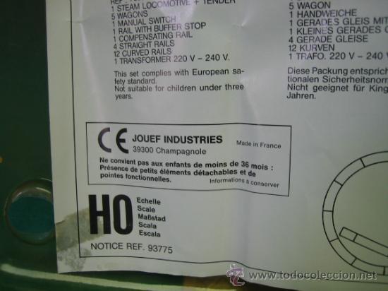 Trenes Escala: Tren Vapor Express 735800 de Jovef made in France. Escala HO. Esta deformado por la temperatura - Foto 8 - 36310232
