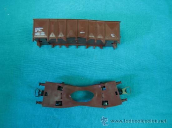 Trenes Escala: Tren Vapor Express 735800 de Jovef made in France. Escala HO. Esta deformado por la temperatura - Foto 12 - 36310232