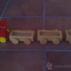 Trenes Escala: ANTIGUO TREN DE MADERA MUY BIEN TRABAJADO.MARCA:ST.GALLEN. Lote 38006981