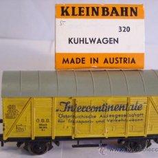 Trenes Escala: KLEINBAHN REF 320 PARA ALTERNA AC ESCALA H0 1/87 VAGON MERCANCIAS CERRADO INTERCONTINENTALE. Lote 38039681