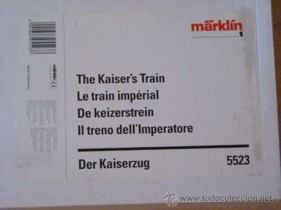Trenes Escala: Marklin digital escala 1 1:32 set 5523 Kaiserzug locomotora G8.1 sonido ref 5508 spur1 Nuevo - Foto 32 - 38061324
