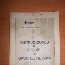Trenes Escala: INSTRUCCIONES PARA CASO DE NEVADAS. Lote 38519356