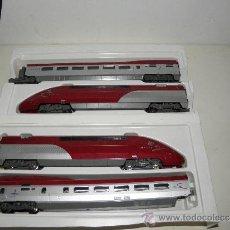 Trenes Escala: TREN ALTA VELOCIDAD MEHANO LOCOMOTORA Y 2 VAGONES CON MAQINA DE COLA THALYS T122. Lote 182648028