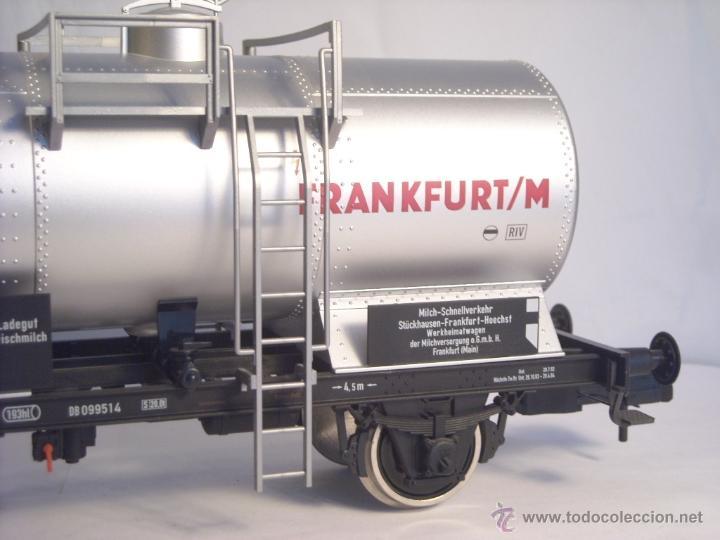 Trenes Escala: Marklin escala 1 1:32 ref 59861 vagon cisterna Moha Frankfurt de la DB spur1 Nuevo - Foto 3 - 39491382