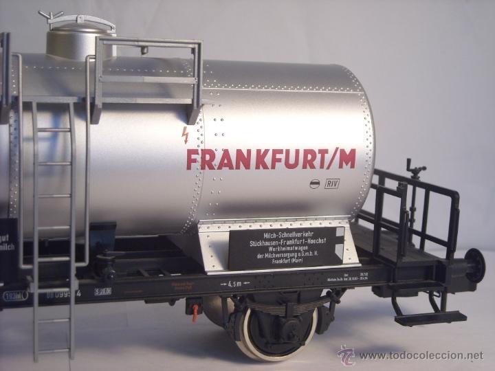 Trenes Escala: Marklin escala 1 1:32 ref 59861 vagon cisterna Moha Frankfurt de la DB spur1 Nuevo - Foto 7 - 39491382