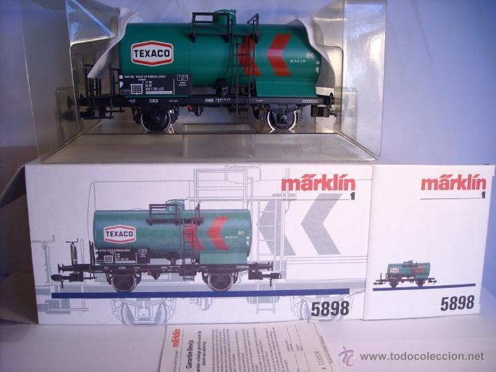 MARKLIN ESCALA 1 1:32 REF 5898 VAGON CISTERNA TEXACO DE LA DB SPUR1 NUEVO (Juguetes - Trenes - Varios)