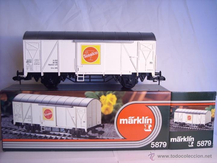 MARKLIN ESCALA 1 1:32 REF 5879 VAGÓN MERCANCIAS SINALCO DE LA DB SPUR1 (Juguetes - Trenes - Varios)