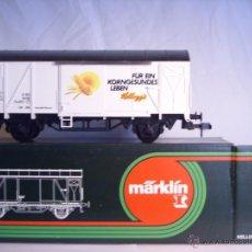 Trenes Escala: MARKLIN ESCALA 1 1:32 REF 5886 VAGON MERCANCÍAS CERRADO KELLOGS DE LA DB SPUR1. Lote 39630244