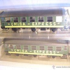Trenes Escala: MARKLIN ESCALA 1 1:32 REF 58091 SET 2 COCHES PASAJEROS 2ªCLASE CHINA EXPRESS TRES EJES VAGON SPUR1. Lote 39671211