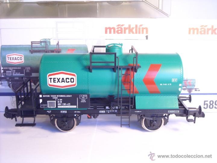 Trenes Escala: Marklin escala 1 1:32 ref 5898 vagon cisterna Texaco de la DB spur1 Nuevo - Foto 2 - 39604780